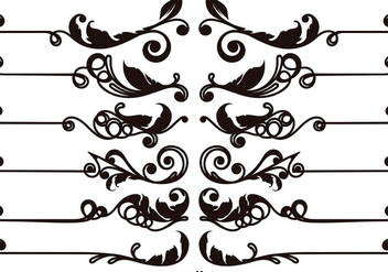 Set Of Vector Ornamental Text Dividers - vector gratuit #401565