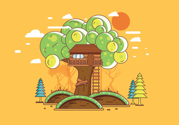 Treehouse Vector - Free vector #401575
