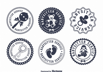Free Babysitter Vector Badges - vector #401585 gratis