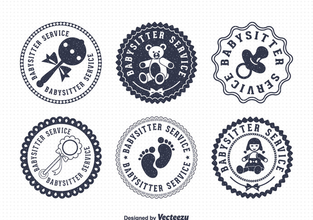 Free Babysitter Vector Badges - Free vector #401585