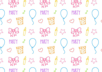 Free Birthday Party Pattern Vector - Free vector #401635