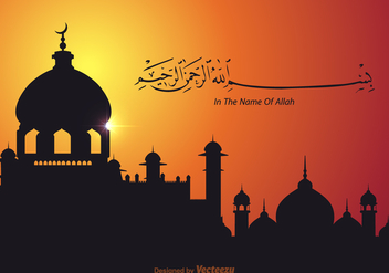 Free Bismillah Vector Wallpaper - Free vector #401685