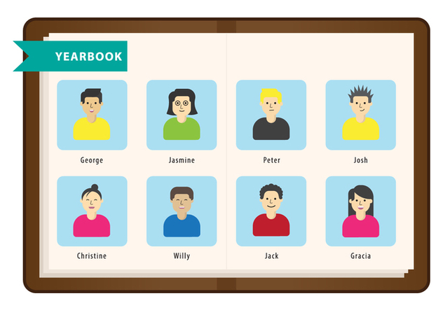 Free Yearbook Vector - vector gratuit #401695