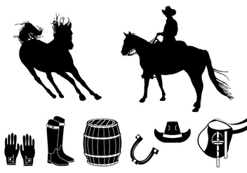 Element of barrel racing silhouette - Free vector #401705