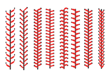 Free Baseball Laces Icons Vector - Free vector #401715