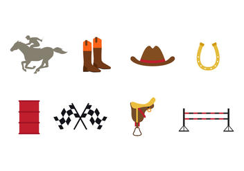 Free Barrel Racing Icons - vector gratuit #401735
