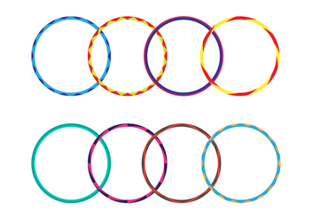 Free Various of Hula Hoop Vector - бесплатный vector #401745