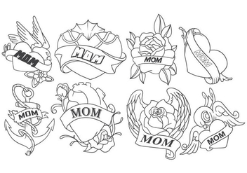 Free Mom Tattoo Vector - vector #401775 gratis