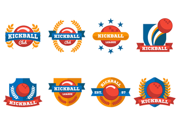Free Kickball Label and Emblem Vector - Free vector #401785