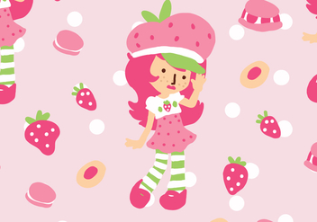 Strawberry Shortcake Pattern - vector gratuit #401795