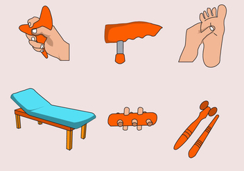 Reflexology Activities Vector - Free vector #401815