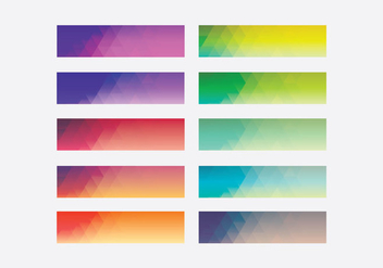 Webkit Linear Gradient Top Template Set - Free vector #401875