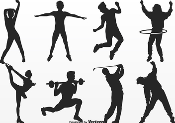 Free People Movement Silhouettes Vector - бесплатный vector #401885