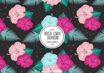 Free Tropical Flowers Background - vector gratuit #401905
