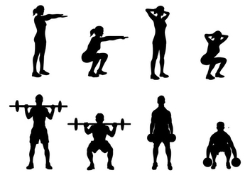 Free Squat Icons Vector - Free vector #401935