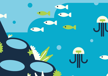 Blue & Green Seabed - vector #401965 gratis