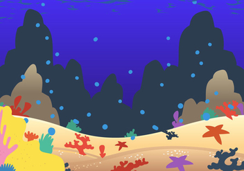Seabad coral cartoon vector - Free vector #401975