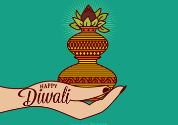 Free Happy Diwali Vector Card - Kostenloses vector #401985