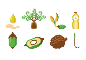 Palm Oil Vectors - vector gratuit #402015