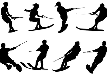 Free Water Skiing Icons Vector - Free vector #402035