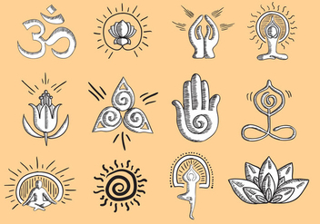 Vector Yoga Icon - Free vector #402055