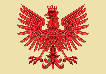 Art Deco Drawing of Amazing Polish Coat of Arm Vector - Kostenloses vector #402095