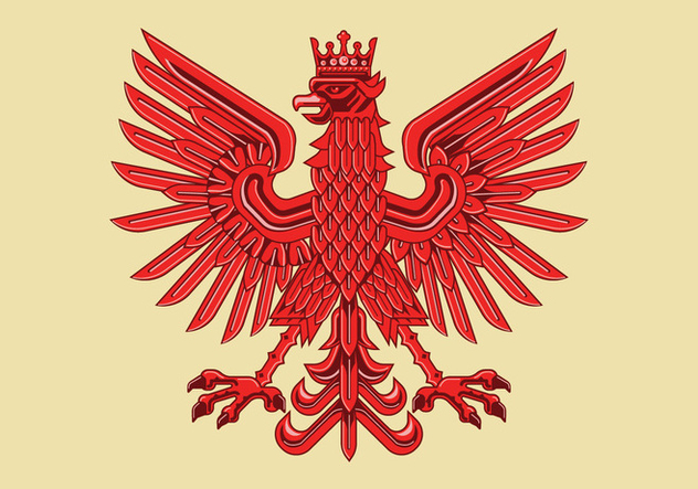 Art Deco Drawing of Amazing Polish Coat of Arm Vector - Free vector #402095