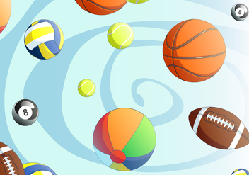 Sports Ball Free Vector - vector #402145 gratis
