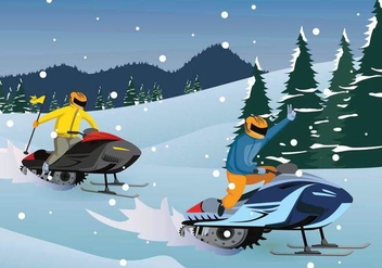 Free Snowmobile Illustration - Free vector #402255