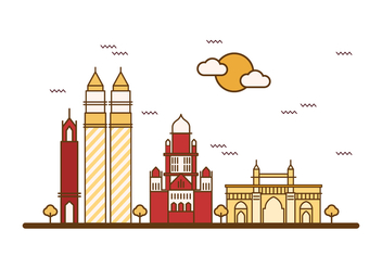 Free Mumbai Illustration Vector - Free vector #402295