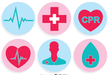 Medical Circle Icons Vector - бесплатный vector #402305