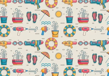 Songkran Pattern Vector - бесплатный vector #402395