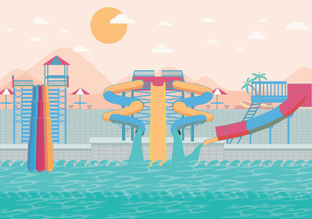 Water Slide Big Vector - Kostenloses vector #402405
