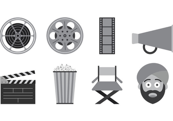 Set Of Bollywood Icons - vector #402475 gratis