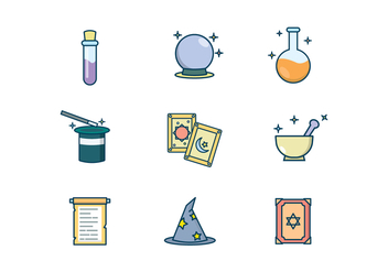 Free Magic Items Vector - vector #402485 gratis