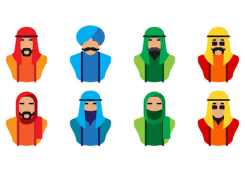 Free Arabic People Icon Vector - vector gratuit #402515