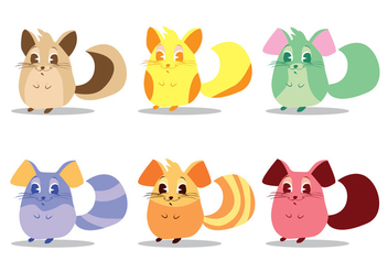Chinchilla Vector Set - vector gratuit #402545