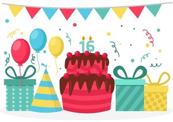 Free Birthday Party Vector - vector gratuit #402555