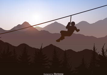 Free Vecor Zipline Background - Kostenloses vector #402575