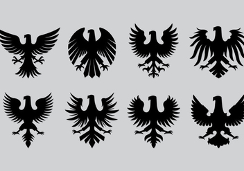 Set Of Polish Eagle Icons - vector gratuit #402595