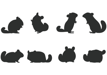 Chinchilla Silhouette - vector gratuit #402655