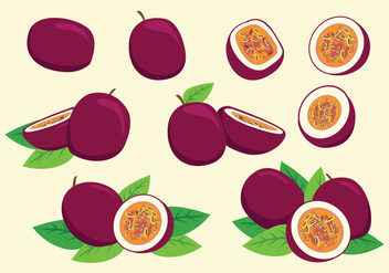 Free Passion Fruit Vector - vector gratuit #402665