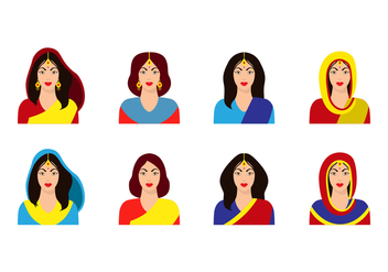Free Indian Women Vector - бесплатный vector #402705
