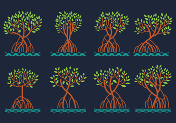 Mangrove Vector Pack - бесплатный vector #402795