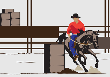 Barrel Racing illustration - vector gratuit #402935