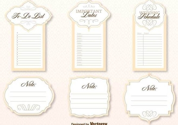 Wedding Organizer Template Vector - бесплатный vector #402955