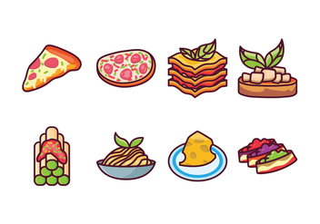 Free Italian Food Icons - vector gratuit #403085