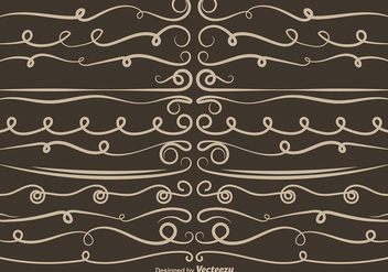 Set Of VECTOR Curly Dividers - бесплатный vector #403625