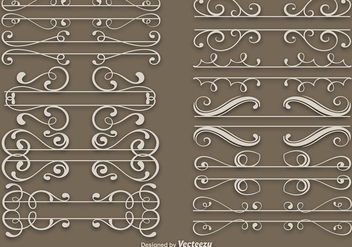 Elegant Dividers Vector Set - бесплатный vector #403635