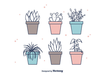 House Plants Vector - бесплатный vector #403655